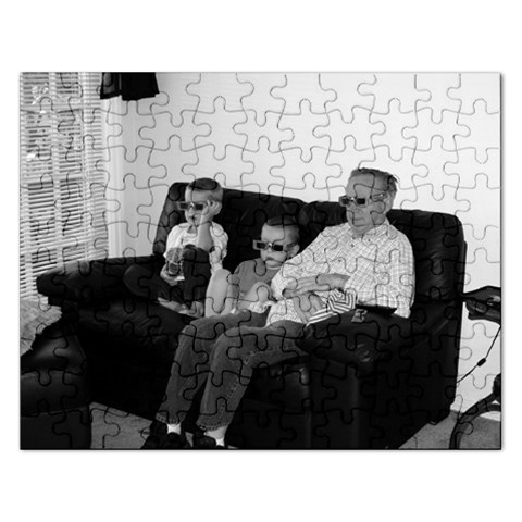 Papa And His Boys! By Tracy   Jigsaw Puzzle (rectangular)   P1hjjgtvdqld   Www Artscow Com Front