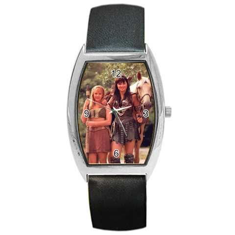 Xena, Gabby & Argo Watch  By Magali Vaz   Barrel Style Metal Watch   Qwxclr1brxy7   Www Artscow Com Front