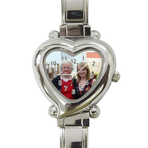 Mom Watch By Mallory   Heart Italian Charm Watch   45eq3w3uuofg   Www Artscow Com Front
