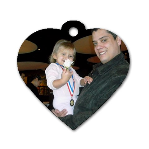First Recital By Elizabeth   Dog Tag Heart (one Side)   Bfv26xfzztfp   Www Artscow Com Front
