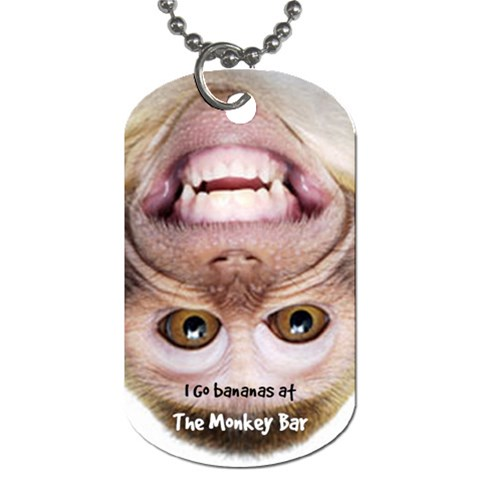 Monkey Bar  Tag 60 By Debra Macv   Dog Tag (one Side)   Mwfxraujo3xh   Www Artscow Com Front