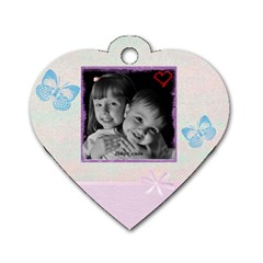 Heart Dogtag By Christy Fralin   Dog Tag Heart (two Sides)   Pp5mhbeoh02h   Www Artscow Com Front