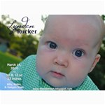 Lynden Rucker Announcement - 5  x 7  Photo Cards