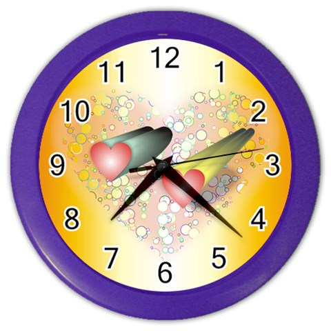 Reloj By Lydia   Color Wall Clock   Iq6tcmb8mtyz   Www Artscow Com Front