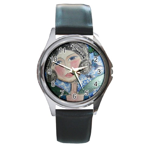 Watch By Belinda   Round Metal Watch   75osuvqc36cx   Www Artscow Com Front