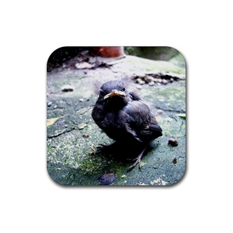 Little Birdie By Julia   Rubber Coaster (square)   Ghfvhgugjoak   Www Artscow Com Front