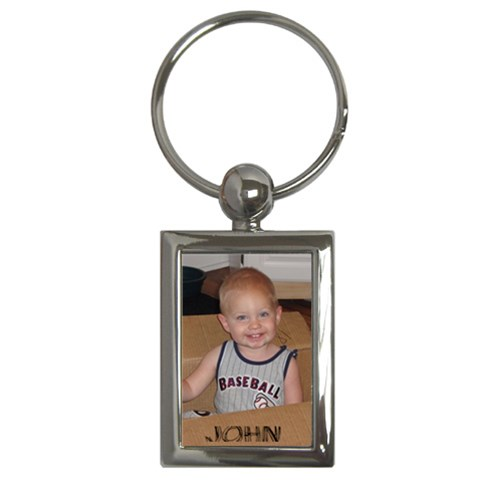 John s Keychain By Jessica   Key Chain (rectangle)   Vp4no62nlc4u   Www Artscow Com Front