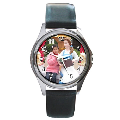 Watch By Natalie   Round Metal Watch   N05ipnqty9ok   Www Artscow Com Front