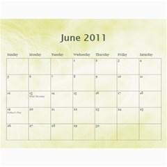 Personal Calendar By Asha Vigilante   Wall Calendar 11  X 8 5  (18 Months)   Fjd24prhuuge   Www Artscow Com Jun 2011