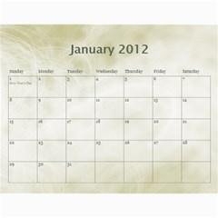 Personal Calendar By Asha Vigilante   Wall Calendar 11  X 8 5  (18 Months)   Fjd24prhuuge   Www Artscow Com Jan 2012