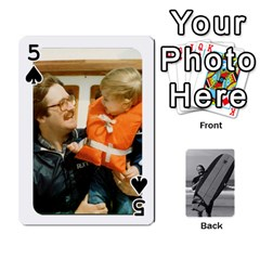 Father s Day By Kristen   Playing Cards 54 Designs   6vw540blpqe8   Www Artscow Com Front - Spade5