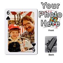 Father s Day By Kristen   Playing Cards 54 Designs   6vw540blpqe8   Www Artscow Com Front - Spade6