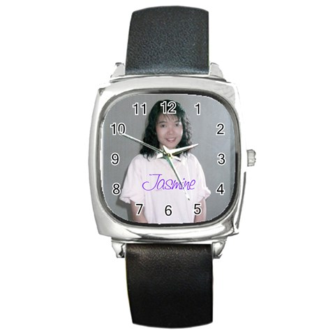 Watch   Jasmine By Justin Chia   Square Metal Watch   Do0r343hhs9p   Www Artscow Com Front