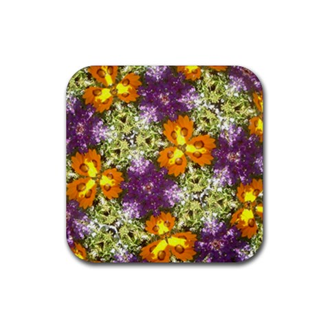 Flower Scope By Melissa   Rubber Coaster (square)   Cxunjhdmptoc   Www Artscow Com Front