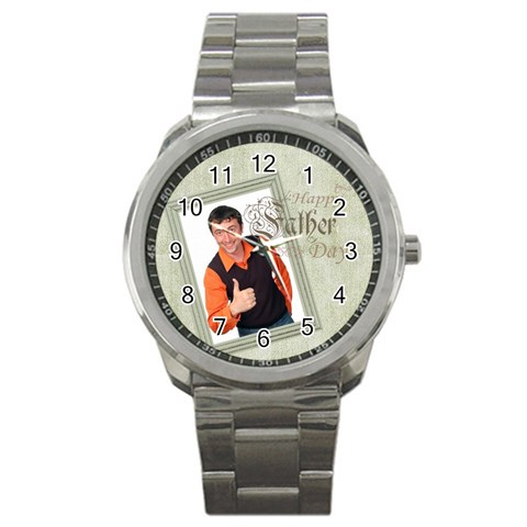 Fathers Day By Wood Johnson   Sport Metal Watch   Nwhvlwe7ygmo   Www Artscow Com Front