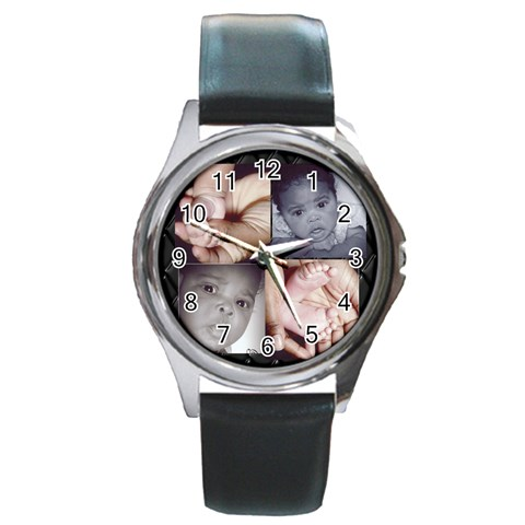 Daddy s Watch 2 By Nechele Williams    Round Metal Watch   Ctjgs9d051tl   Www Artscow Com Front