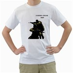 Counter Strike T Shirt - Men s T-Shirt (White) (Two Sided)