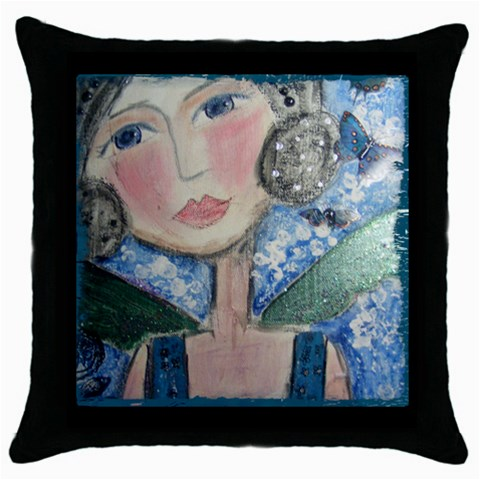 Cushion1 By Belinda   Throw Pillow Case (black)   Cyygewh5i4px   Www Artscow Com Front