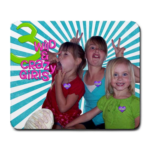 Mousepad For My Neices <3 By One Of A Kind Design Studio   Large Mousepad   Vcxqjt4ap27k   Www Artscow Com Front