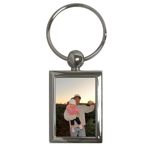 Dad And Ashlee By Cassandra Ferder   Key Chain (rectangle)   Se1yopdjafv5   Www Artscow Com Front