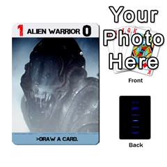 Aliens: This Time It s War By Bob Menzel   Playing Cards 54 Designs   Lxtu6a3cldyz   Www Artscow Com Front - Club3