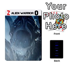 Aliens: This Time It s War By Bob Menzel   Playing Cards 54 Designs   Lxtu6a3cldyz   Www Artscow Com Front - Club4
