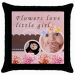 baby case - Throw Pillow Case (Black)