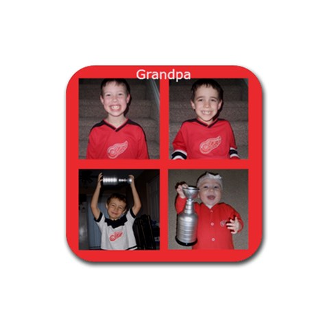 Coaster By Pat   Rubber Square Coaster (4 Pack)   Wsqnv1zi5va0   Www Artscow Com Front