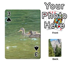 Yosemite Cards By Amy Barton   Playing Cards 54 Designs   3x9hom9gt9cu   Www Artscow Com Front - Spade3