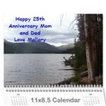 Anniversary Gift - Wall Calendar 11  x 8.5  (12-Months)