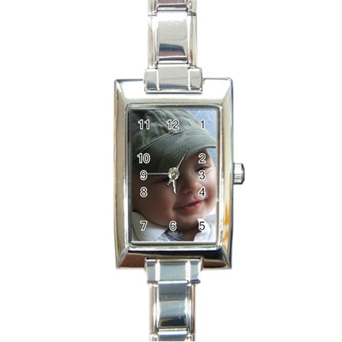 By Debbie   Rectangle Italian Charm Watch   Y9ugtsqcobnk   Www Artscow Com Front