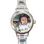 watch - Round Italian Charm Watch