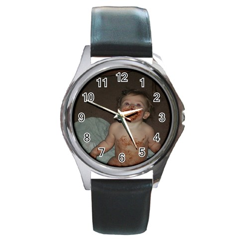 Metal Round Watch By Tonya Smith   Round Metal Watch   Z3c6x9wpmp3b   Www Artscow Com Front