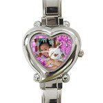 watch2 - Heart Italian Charm Watch