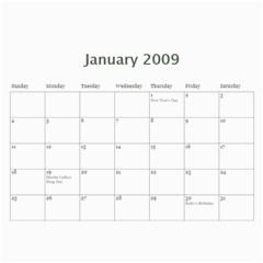 Family Calendar By Melinda   Wall Calendar 11  X 8 5  (12 Months)   Q2u90gu6zf7v   Www Artscow Com Jan 2009