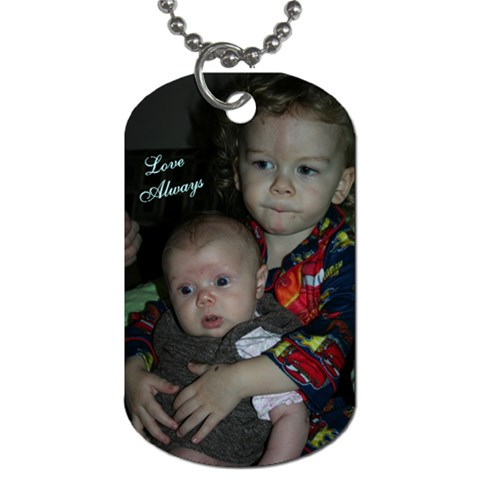 Love Always  By Brooke Burnie   Dog Tag (one Side)   B62e97shroid   Www Artscow Com Front
