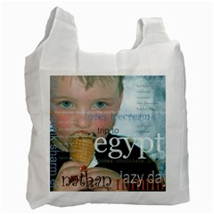 Blue Eyed Boy/bliss By Catvinnat   Recycle Bag (two Side)   Vvgdiwy2rhrd   Www Artscow Com Front