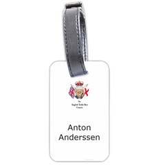 English Teddy Bear Bag Tag By Anton Anderssen   Luggage Tag (two Sides)   Upamye2qe2up   Www Artscow Com Front