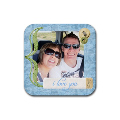 I Love You Coaster By Louise   Rubber Coaster (square)   0xa1zhg4cw68   Www Artscow Com Front