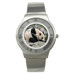Giant Panda Stainless Steel Watch by ironman2222