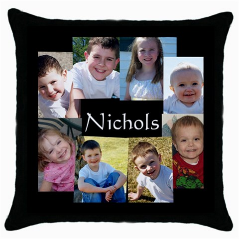 By Shari Nichols   Throw Pillow Case (black)   Kn4xrrxolbzz   Www Artscow Com Front