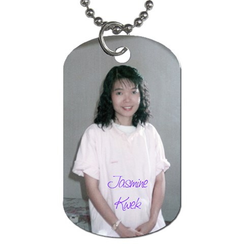 Dt Jasmine By Justin Chia   Dog Tag (one Side)   Aizytgzl886t   Www Artscow Com Front