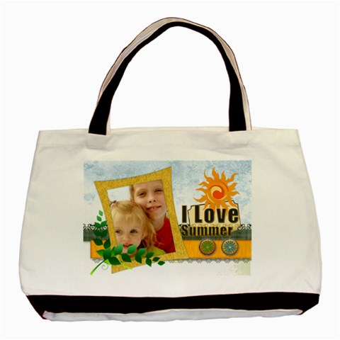 I Love Summer By Joely   Basic Tote Bag   Boko6iy51asv   Www Artscow Com Front