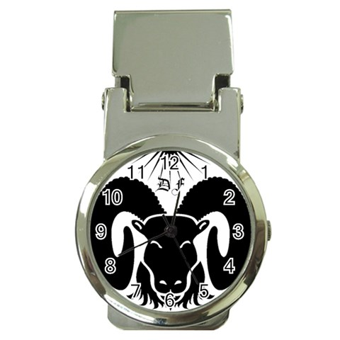 Go Rams!! By Anna Marie   Money Clip Watch   13gieyb2sy34   Www Artscow Com Front