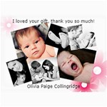 Olivia s Thank you cards - 5  x 7  Photo Cards