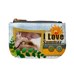 I Love Summer By Joely   Mini Coin Purse   Fekl3bnh7sm8   Www Artscow Com Front