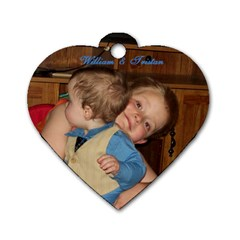Tristan By Sarah   Dog Tag Heart (two Sides)   Pcmhnma7ockb   Www Artscow Com Front