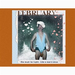 Dave Calendar By Lily Hamilton   Wall Calendar 11  X 8 5  (12 Months)   Ojskvv65n5vm   Www Artscow Com Month