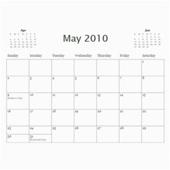 Photo Calender By Mary Stewart   Wall Calendar 11  X 8 5  (12 Months)   G1vxiv8amqzf   Www Artscow Com May 2010