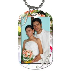 James And Abby By Jes   Dog Tag (two Sides)   Rp7m0um68uhj   Www Artscow Com Front
